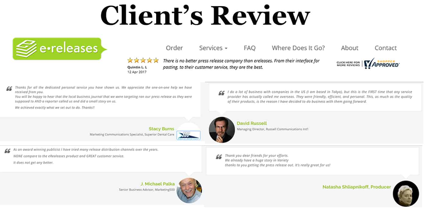 eReleases review Clients Review